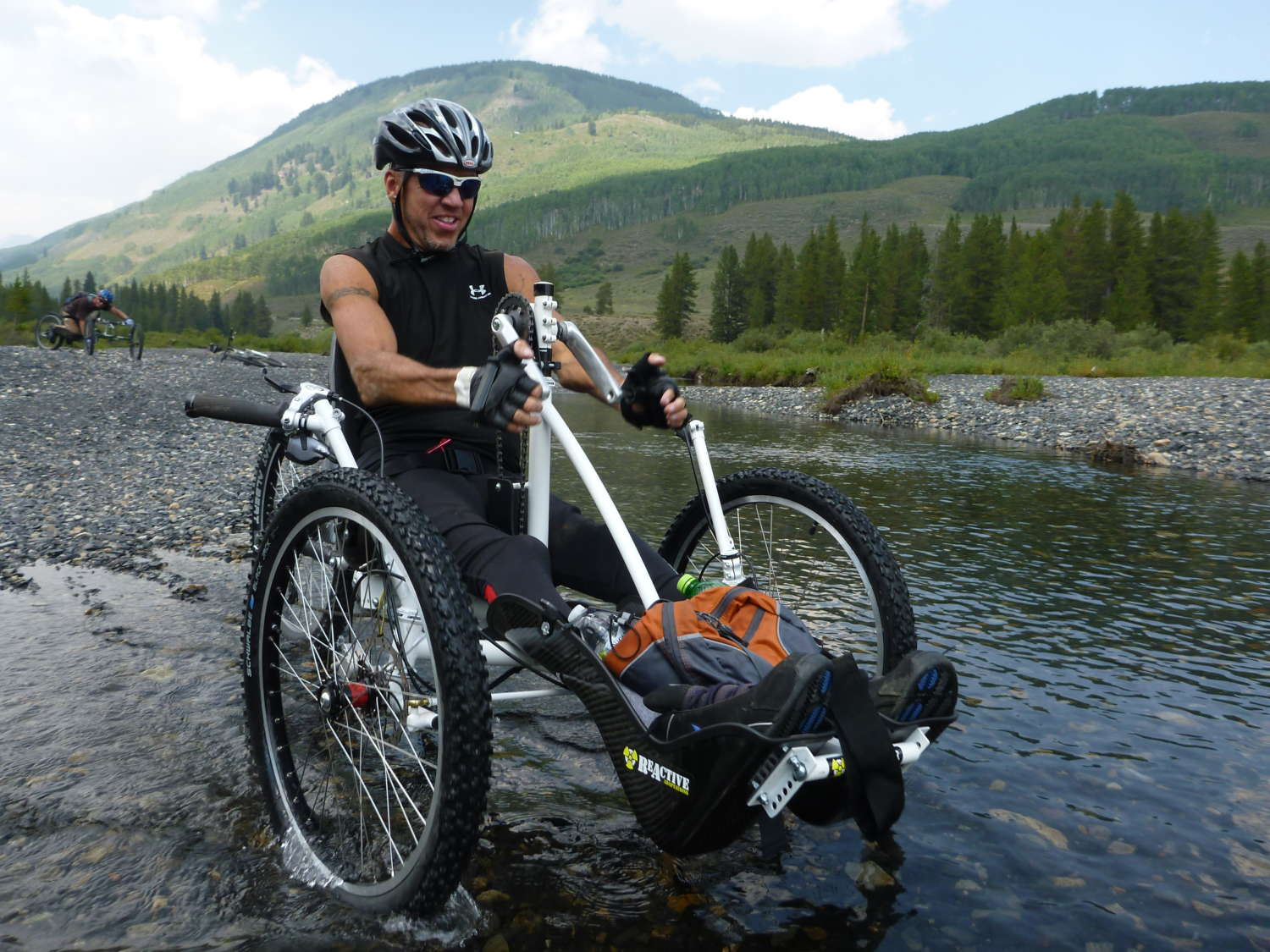 Nuke Handcycle River Crossing