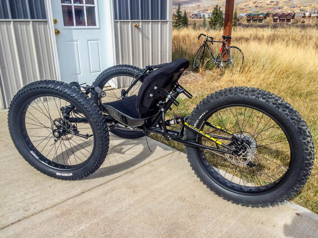 reactive adaptations stinger offroad recumbent bicycle