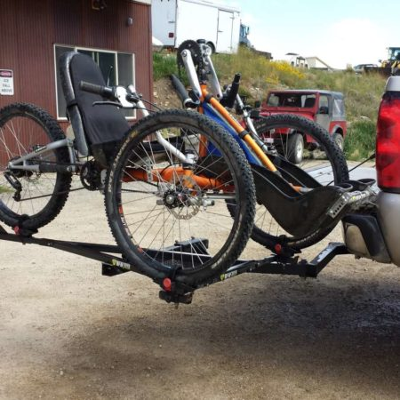 reactive adaptations handcycle hitch rack
